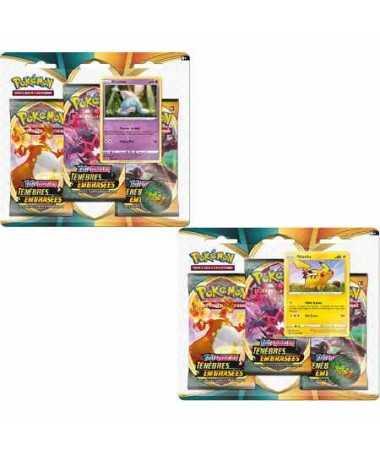 Pack 3 boosters Pokemon Ténèbres Embrasées