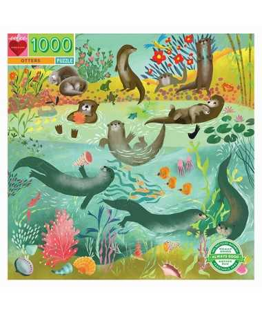 Puzzle - Otters (1000 pcs)