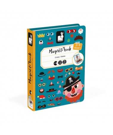 Magnéti'Book Crazy faces - Garçon (70 magnets)
