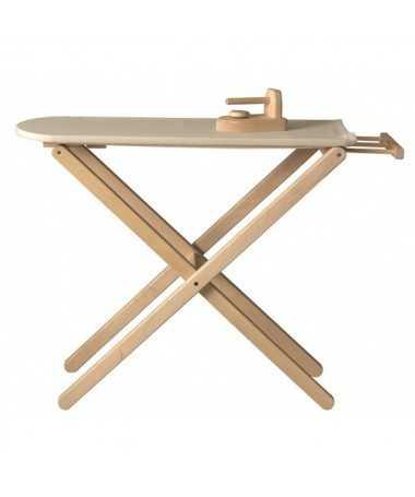 Planche à repasser en bois avec fer - 62 cm