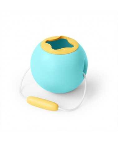 Jouet de Plage - Seau ballon - Mini Ballo Bleu et Jaune - 16 cm