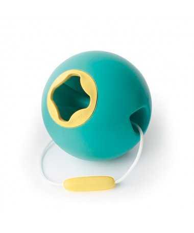 Jouet de Plage - Seau ballon - Ballo Bleu et Jaune - 20 cm