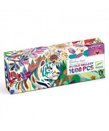 Puzzle - Rainbow tigers (1000 pcs)