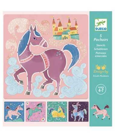 Pochoirs - chevaux