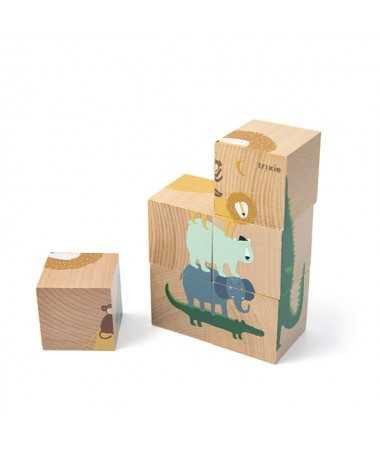 Puzzle cubes en bois - FSC