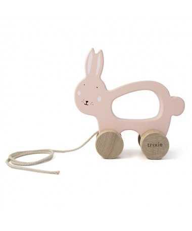 Jouet à tirer en bois - Mrs. Rabbit - FSC