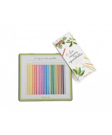 Boîte 24 crayons aquarellables Le jardin du Moulin